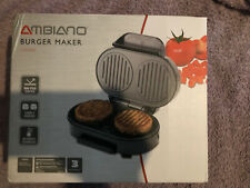 2 Slice Electric Burger Maker Press Meat Beef Hamburger Maker Quarte Pounder New