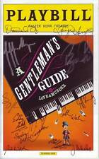 A GENTLEMAN'S GUIDE TO LOVE & MURDER CAST signed autographed playbill