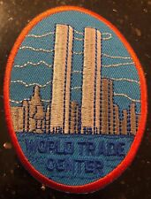 Vintage Twin Towers World Trade Center Skyline Patch Appr 3.5X 2.5 NY City New