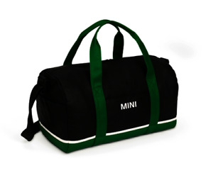 MINI GENUINE TRICOLOUR BLOCK DUFFLE BAG - BLACK / BRITISH GREEN