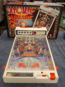 Vintage 1979 TOMY Atomic Arcade Pinball Complete w/ Box & Feet Working