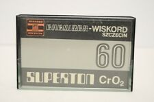 #6 USED Vtg Polish Cr02 Audio Cassette Tape SUPERTRON Wiskord Szczecin Chemitex