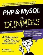 Php and MySql for Dummies® by Janet Valade (2004, Paperback, Revised) New.