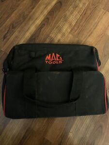"""MAC TOOLS EMBROIDERED CANVAS RED / BLACK TOOL BAG 14x11"""""""
