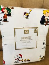 Pottery Barn Teen Peanuts Flannel Full Sheet Set New Christmas Snoopy