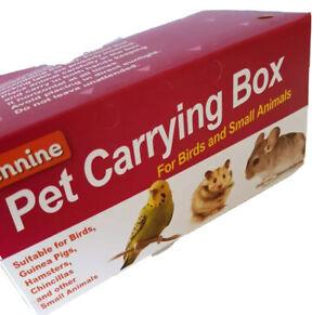 1 X Quality Cardboard Carry Transporting Box Birds Hamster Mice Gerbil Small