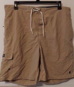 Polo Ralph Lauren 9-Inch Kailua Beige Swim Trunks size XXL / 2XL retail $69 NWOT