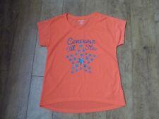 Girls neon orange converse T-shirt Age 13-15yrs / 158-170cm