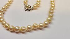 Collana di perle oro 585 CHIUSURA 56 cm Akoya perle collier di perle