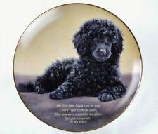 Rare Pawprints On My Heart Danbury Mint Cherished Poodles Black Dog