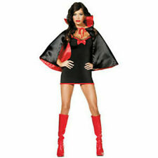 Ladies BATGIRL BAT Girl fancy dress vampire Cape halloween black Size 12 14