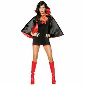 Ladies BATGIRL BAT Girl fancy dress vampire devil halloween black Size 12 14