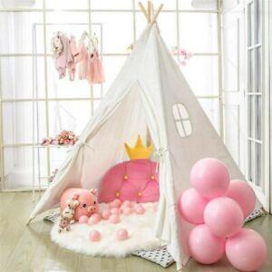 Tipi Zelt Kinderzelt Spielzelt Baumwolle Spielhaus Kinderzimmer Für Kinder