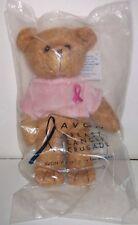 "Avon Breast Cancer Crusade Collector Plush Teddy Bear Stuffed Sealed 7"""