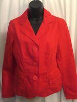 Talbots Women's Red Stretch Casual Blazer Jacket Size 8