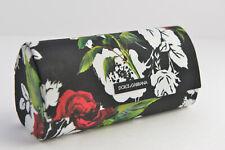e51f0f5cdac7 New Dolce Gabbana Sunglasses Eyeglasses Black Rose Print Large Case Magnetic