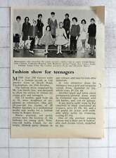 1962 Teen Fashion Show Twickenham Gillian Stone, Catherine Warden, Pat Corben
