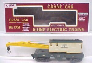 K-Line K689103 TCA Ariz. and Cal. Crane Car LN/Box