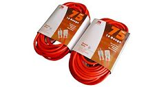 2 Pack 75' 14 Gauge Extension Cord Heavy Duty  Lit Ends UL 14/3 AWG Ft Feet
