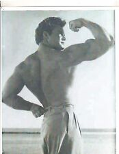 STEVE REEVES Bodybuilding Shirtless wearing pants Outdoors Photo B&W