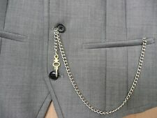 unusual novelty silver single albert pocket watch real key  chain fob