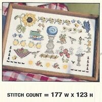 SUMMER GARDEN -  CROSS  STITCH  PATTERN  ONLY  PY - VYY