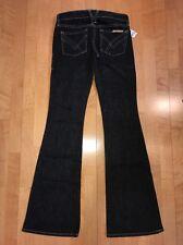 NWT! William Rast Tag Size 25 Long Black Gray Betty Stretch Flare Jeans 29x34