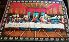 """Vintage Last Supper Tapestry Wall Hanging Jesus Christ & Disciples 57"""" x 40"""""""
