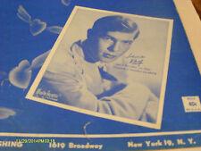 Johnnie Ray Cry 1951 Photo Sheet Music