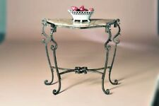 NEW TUSCAN ORNATE ACANTHUS SCROLL IRON CONSOLE ACCENT SOFA MARBLE TOP Table