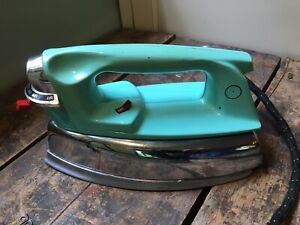 Vtg Proctor Silex Steam and Dry Iron Model 10728 Rare Turquoise Color Prop Piece