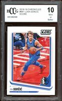 2018-19 Chronicles Score #682 Luka Doncic Rookie Card BGS BCCG 10 Mint+