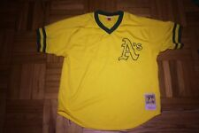 OAKLAND A'S THROWBACK JERSEY - MITHCELL & NESS