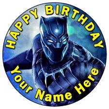 "Pantera NEGRA MARVEL Avengers - 7.5"" Personalizado Glaseado Comestible Cake Topper (2)"