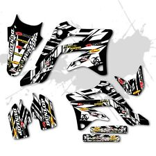 2002 2003 2004 CRF450R GRAPHICS KIT HONDA ISLANDSTIKE: WHITE DIRT BIKE DECALS