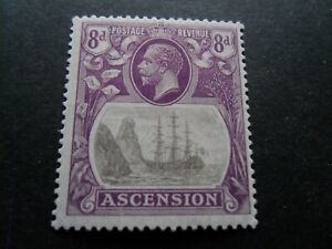 Ascension 1924  KGV  Mm 8d- stamp as per pictures