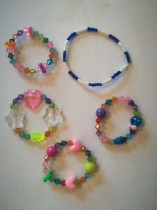 5 Armbänder, Modeschmuck, Handarbeit