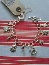 Hand Made PREGNANCY, BABY shower Gift,CHRISTENING Inspired Charm Bracelet