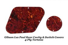 4-ply Tortoise Rear Cavity Control Covers made for Gibson Les Paul LP Project