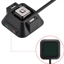 PC Power Boot Reset Desktop Switch Button with Dual USB Ports Audio Mic Jack New