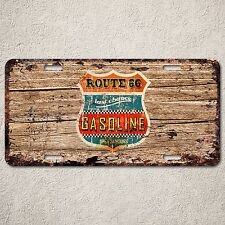 LP0276 Wood Rust Auto License Plate Gasoline cafe Bar Home Wall Door Decor sign
