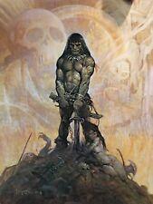 FRANK FRAZETTA Conan The Barbarian FANTASY Litho PRINT 23 X 18 Vintage Print #40