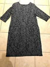 Grey Floral Dress From Monsoon Size 22