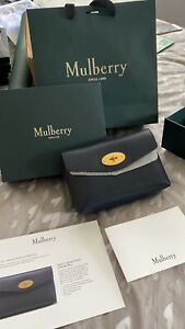Mulberry Darley Cosmetic Bag Bright Navy BRAND NEW