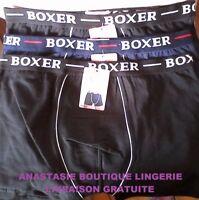 sous vêtement  lot 3 boxers hommegarçon coton95% slipcaleçon uni noir/marine2XL