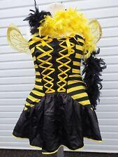 Ladies Sexy / Halloween Bumble Bee Fancy Dress Costume & Boa Size XXL 16 - 18