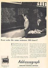 1947 Addressograph Business Methods Vintage Advertisement Print Ad J520