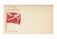 "Civil War Patriotic Postal Cover - ""The Flag of a New Confederacy"" - Jeff. Davis"
