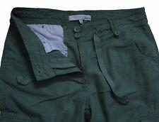 New Womens Green Linen NEXT Trousers Size 10 Petite Leg 29 LABEL FAULT