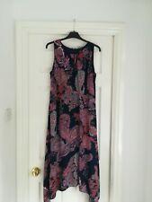 Wallis paisley fit and flare midi Dress Size 14